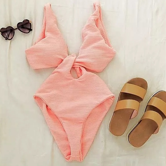 3ad7d4445d04d Cupshe Swim | Shine For U Solid Onepiece Suit | Poshmark